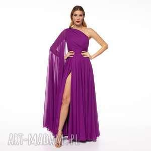 sukienki suknia alisa, asymetryczna, balowa, elegancka, biskupia, wesele, gala