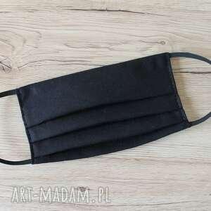 ręcznie wykonane dodatki maseczka bawełniana - czarna