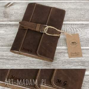 notesy ręcznie robiony skórzany notes, okładka na zeszyt format a5 skóra