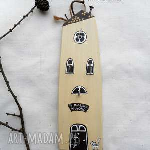 domek na klucze wieszak nr 2, domek, klucze, do domu, drewno