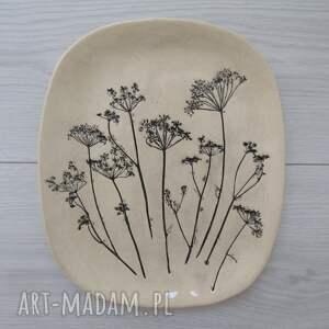 talerz z roślinami baldachami, roślinny, talerz, dekoracyjny, ceramiczny
