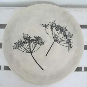 dekoracyjny talerz z roślinami, ceramiczny, patera, ceramiczna, dekoracyjny,