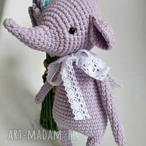 ręcznie wykonane maskotki maskota słonik