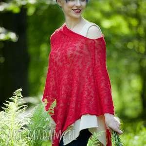 hand-made poncho letnie ponczo z bawełny