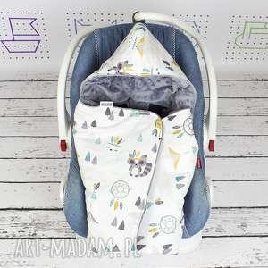 dla dziecka kocyk do nosidła samochodowego tribal woodland, kocyk, nosidło