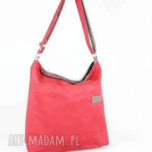 hand-made na ramię model alka 2 kieszenie kolor czerwona malina