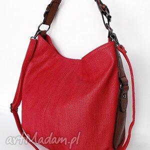Malinowa torba na ramię, torba, torebka