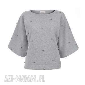 Bien Fashion Krótka bluza damska nietoperz, kimono, krótka, ciepła