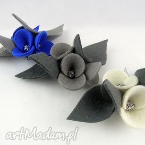 Zestaw - 3 Broszki z Filcu, filc, folk, broszka, filcowy, kwiatek, kwiatki