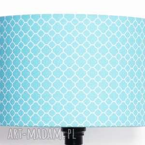 majunto abażur little fresh turquoise 40x40x25cm od majunto, koniczyna-marokańska