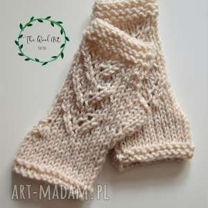 rękawiczki mitenki, rękawiczki, na-dłonie, na-jesień, wełniane, na-drutach