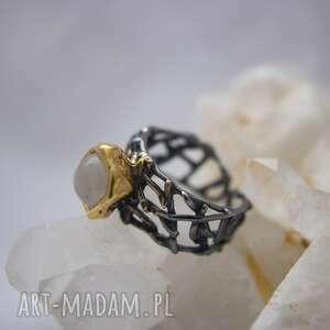 pierścionek siatka, wzór na zamówienie, ażurowy pierścionek