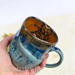 ceramika handmade kubek ceramiczny z kotem duży gnieciuch męski 500ml