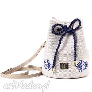 handmade mini torebka lniana taszka mini 414
