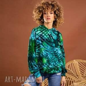 bluzy bluza z kapturem - tropical, kapturem, kolorowa bluza, print