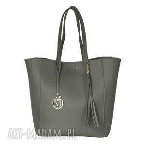 MANZANA duża torba klasyczna 2w1 szara , duża, torba, klasyczna, torebki, torebka