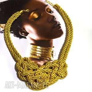 naszyjniki naszyjnik misterny węzeł gold, pleciony, naszyjnik, sznur, sznurek