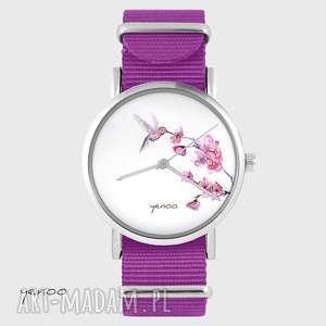 yenoo zegarek - koliber amarant, nato, zegarek, bransoletka
