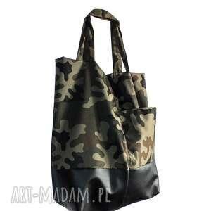 torba, torebka shopper moro xxl, khaki, militarny, podarunek, moro, pojemna, prezent