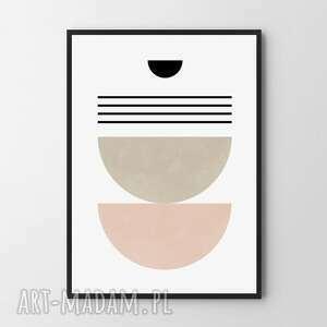 plakat obraz pastelowa geometria a4 - 21 0x29 7cm, obraz, plakaty, dekoracje