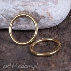 C082 Pierścionek , obrączka z mosiądzu 1 szt, pierścionek, złoty, zmosiądzu,