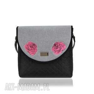 ręcznie robione na ramię torebka puro 1670 light gray roses