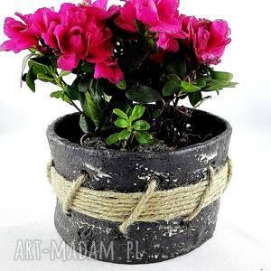 unikalny, doniczka ceramiczna, osłonka, prezent, kwiaty, doniczka, ceramika