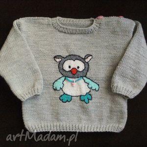 handmade sweterek sówka