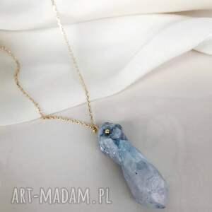 naszyjnik - kwarc niebieski, kwarce, kwarc, kamienie naturalne