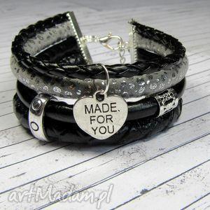 opis bransoletka rzemienie greyblack charms do wyboru, bransoletka, romantyczna