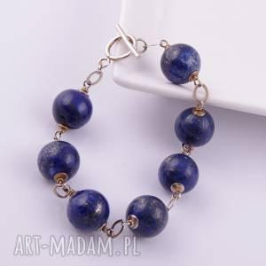 Lapis lazuli-bransoletka - ,lapis,lazuli,srebro,bransoletka,