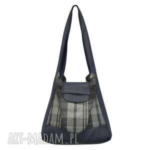 01 -0010 granatowo-szara torba worek na zakupy humming-bird maxi