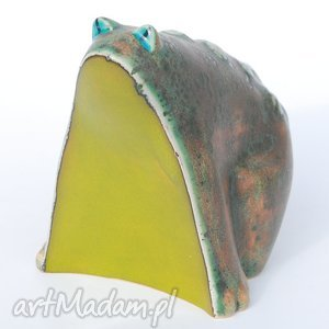 żabcia puszysta - dekoracja, ceramika figurki
