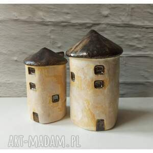 handmade ceramika domki z bretanii