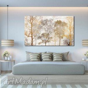 obraz duże drzewo 15 -120x70cm obraz na płótnie brąz beż (drzewa)
