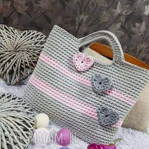 torba do ręki ze sznurka bawełnianego 45cmx35cm, torebka ręki