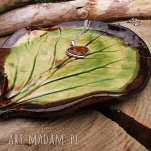 ceramika ceramiczny talerzyk liść c335, cetamiczna, liść, palo santo