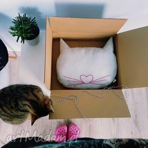 kocia poduszka - ,kot,kotki,koty,poduszka,podusia,szara,
