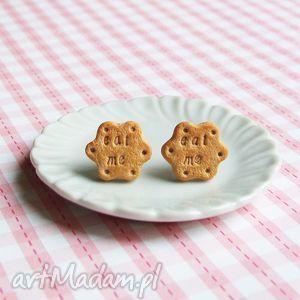 kolczyki wkrętki ciastka -eat me - alicja w krainie czarów, kolczyki, sztyfty