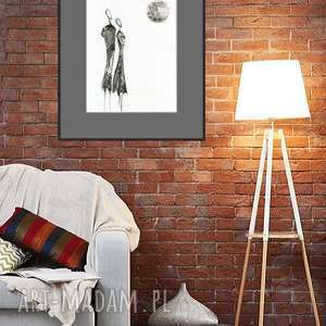 A3 - ręcznie malowany, abstrakcja, minimalizm, abstrakcja czarno-biała, ilustracja