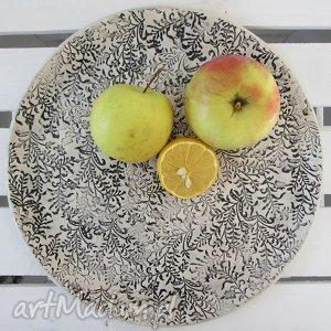 romantyczna patera, talerz, ceramiczny, dekoracyjny, ceramiczna