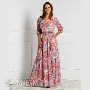 sukienki sukienka liv maxi medea, maxi, orient, orientalny wzór