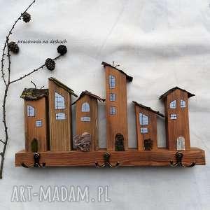 domki drewniane nr 1- wieszak, domki, naturalne, rustykalne, do-domu,