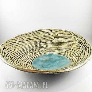 patera ceramiczna - wstążka, dekoracja, patera, prezent, misa, ceramika, kuchnia
