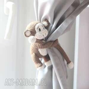 pokoik dziecka zawieszki do zasłon małpki, zawieszka małpka, dekoracja okna