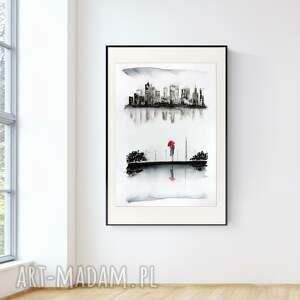 obraz ręcznie malowany 70 x 100 cm, nowoczesna abstrakcja, 2965218