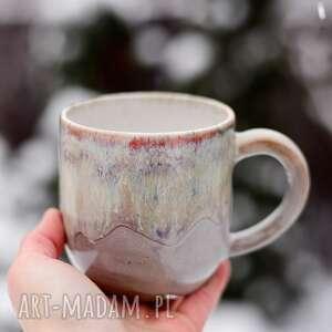 azulhorse kubek duży kamionkowy - sensual beżowy 420 ml, ceramika na prezent