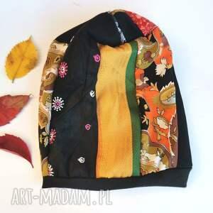 czapki czapka patchworkowa damska na podszewce rozmiar uniwersalny box r1