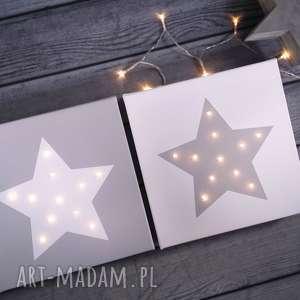 pomysł na upominek świąteczny ŚWIECĄCY OBRAZ LED GWIAZDA prezent lampka dekoracja