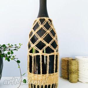 handmade wazony wazon butelka w oplocie